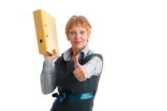 Attractive mature businesswoman. Portrait of a beautiful mature businesswoman gesturing Stock Photo