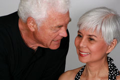 Attractive mature couple. Talking to each other Stock Photo