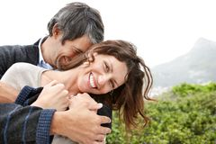 Attractive mature couple enjoying themselves Stock Photography