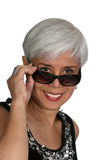 Attractive mature woman royalty free stock image