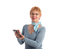 Attractive mature woman Stock Image