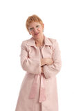 Attractive mature woman with arms crossed. Portrait of a beautiful mature woman smiling Royalty Free Stock Photo