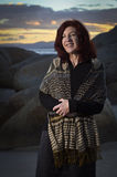 Attractive mature woman at beach Royalty Free Stock Image