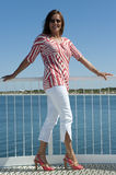 Attractive mature Woman at Seaside Stock Photo