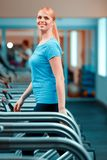 Attractive mature woman at sports club Stock Photos