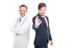 Attractive medical doctor and executive director Royalty Free Stock Photos