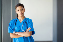 Attractive medical intern Stock Photo