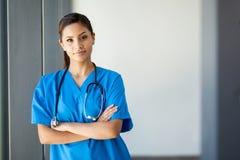 Attractive medical intern Stock Photo