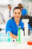 Attractive medical researcher Stock Photography