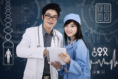 Attractive medical team Stock Photos