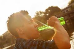 Attractive Men Drinking Beer Stock Photo