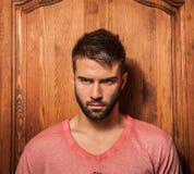 Attractive men indoor. Stock Photography