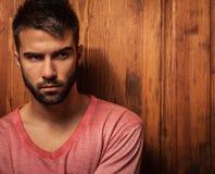 Attractive men indoor. Attractive man indoor. Close-up photo royalty free stock images