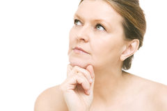 Attractive mid adult woman, female face of beautiful caucasian Stock Image