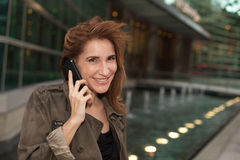 Attractive middle age woman Stock Photos