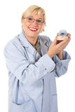 Attractive middle aged female dentist Stock Photo