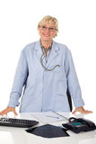 Attractive middle aged female doctor Royalty Free Stock Photography
