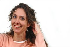 Attractive middle-aged woman. Royalty Free Stock Images