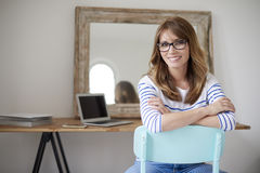 Attractive middle aged woman Royalty Free Stock Image