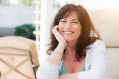 Attractive Middle Aged Woman Portrait Stock Photography