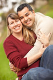 Attractive Mixed Race Couple Portrait Stock Photo