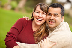 Attractive Mixed Race Couple Portrait Stock Photos