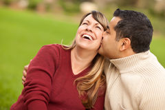 Attractive Mixed Race Couple Portrait Stock Image