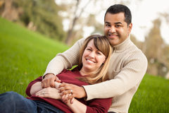 Attractive Mixed Race Couple Portrait Stock Images