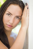 Attractive Mixed Race Girl Portrait Royalty Free Stock Photography