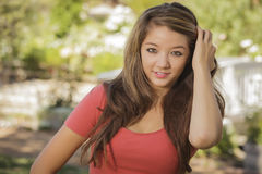 Attractive Mixed Race Teen Girl Portrait Stock Image