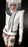 Attractive model in exclusive design clothes Royalty Free Stock Photo