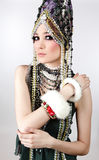 Attractive model in exclusive design clothes Royalty Free Stock Images