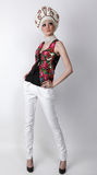 Attractive model in exclusive design clothes Stock Images