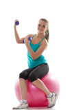 Attractive model posing with sports equipment Stock Photos