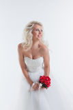 Attractive model posing in wedding attire Stock Photography