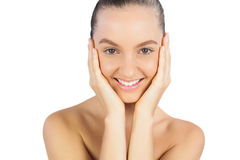 Attractive model smiling Royalty Free Stock Photography