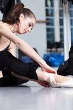 Attractive modern ballet dancer Stock Photos
