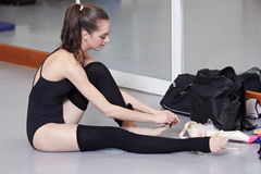 Attractive modern ballet dancer. Attractive woman - modern ballet dancer stock image