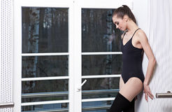 Attractive modern ballet dancer Royalty Free Stock Photos