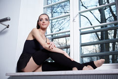 Attractive modern ballet dancer Stock Images