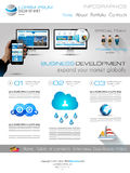 Attractive Modern Business Web Template with flat UI elements. Stock Photos