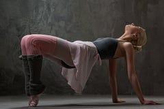 Attractive modern dancer. Attractive modern ballet blond dancer royalty free stock photography