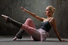 Attractive modern dancer. Attractive modern ballet blond dancer royalty free stock images