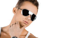 Attractive modern man Stock Images