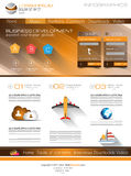 Attractive Modern Web Template with flat UI elements. Royalty Free Stock Photography