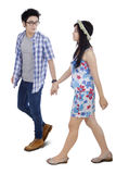 Attractive modern young couple in studio Stock Photo