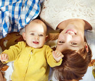 Attractive mom with lovely kid Stock Photography