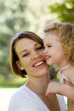 Attractive mother and child Stock Photos