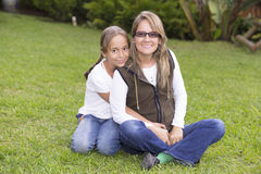 Attractive Mother And Daughter Stock Photo