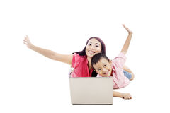 Attractive mother with her son Stock Photography